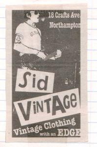 Kil Colgan wearing a vintage t-shirt from Sid Vintage, 2004 ad