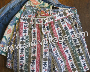 Vintage Printed Denim Shorts at Sid Vintage