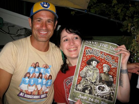 Sam Calagione signed the Dogfish Analog-a-go-go poster for Sid Vintage