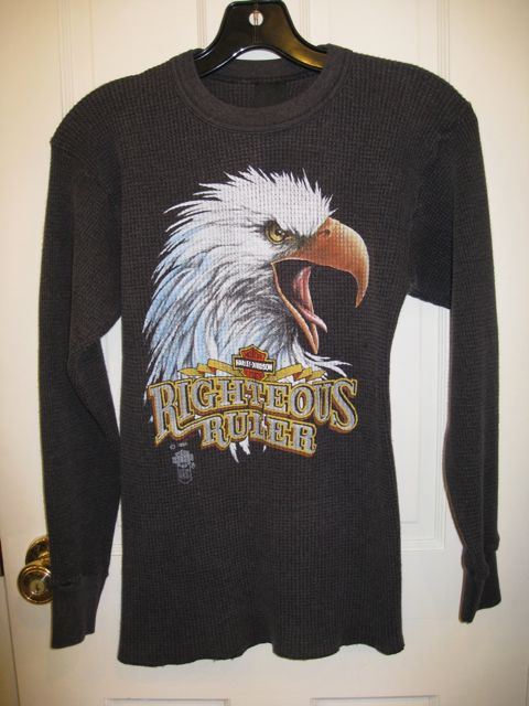 Vintage Harley Davidson Thermal Long Sleeve T-shirt available on our Etsy Store