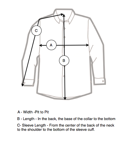 How to measure clothing with long sleeves images frompo for How to measure shirt size for man