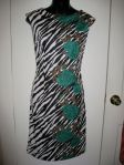 Zebra and Roses Print Dress - On Etsy