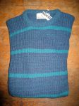 80's Blue Green Striped size L