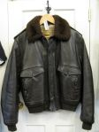 1970's Military Leather Flight Bomber Jacket - In store