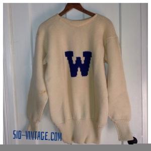1940s Crewneck Letterman Sweater