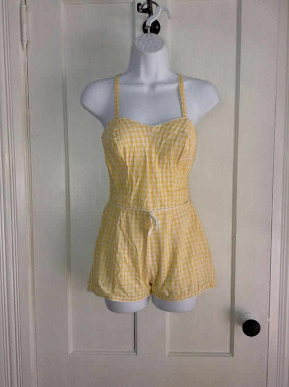 1950s Romper swimsuit