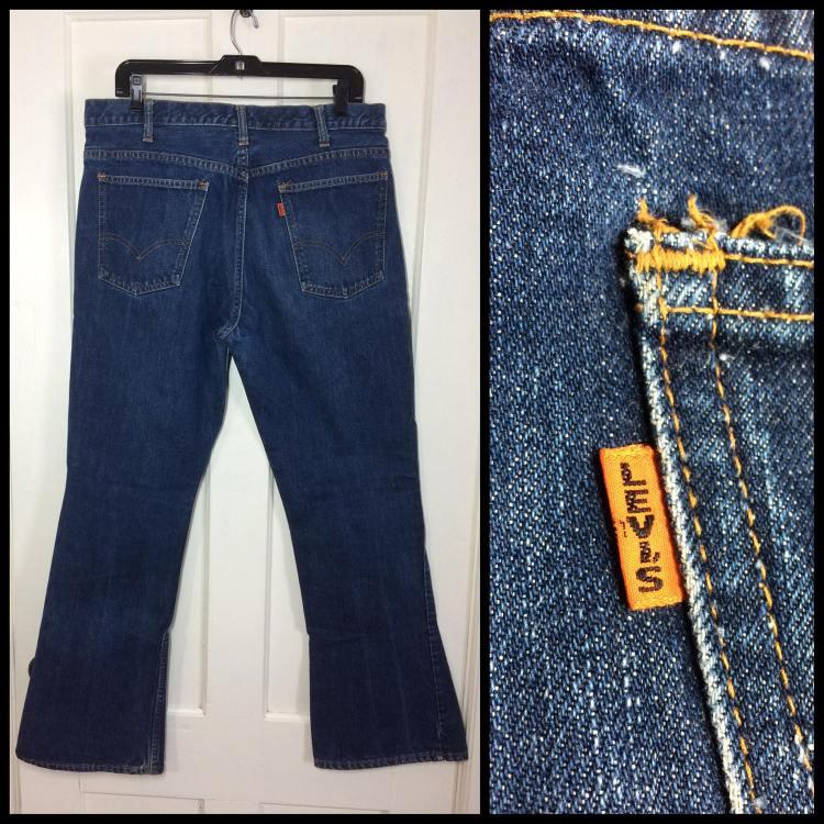 1960s big e levis 646 flare jeans