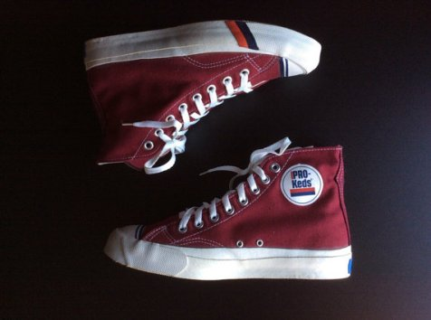 1960s deadstock Pro Keds red hi tops new old stock