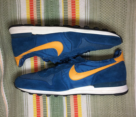 ffdef899fbd 1970s Nike Internationalist blue yellow swoosh waffle sole made in USA size  14