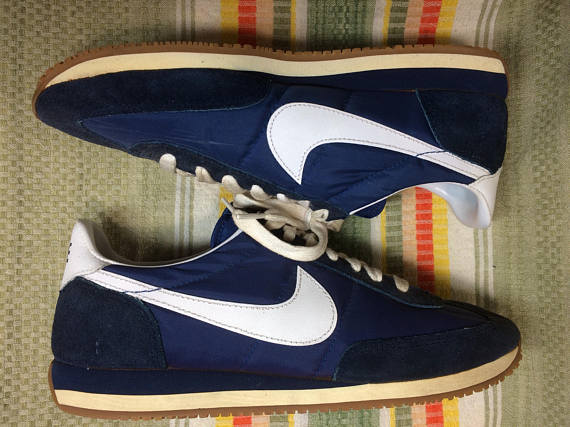 1982 Nike Roadrunner blue white swoosh vintage trainers size 9.5