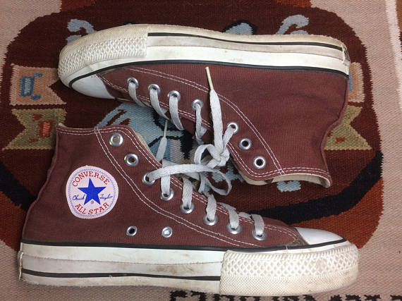 1990s chocolate chucks Chuck Taylors made in USA