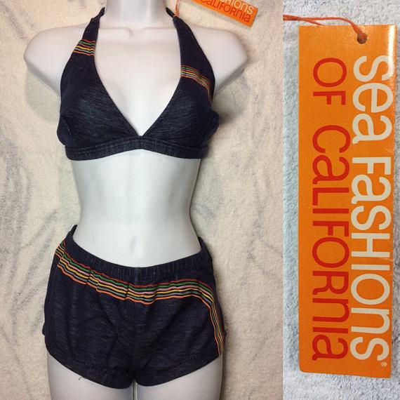deadstock 1970's boy short bikini size L